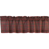 Tartan Red Plaid Valance 16x60