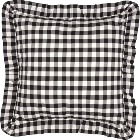 Annie Buffalo Check Black Fabric Euro Sham 26x26