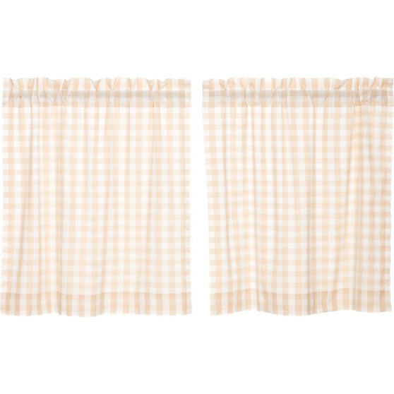 Annie Buffalo Check Tan Tier Set of 2 L36xW36