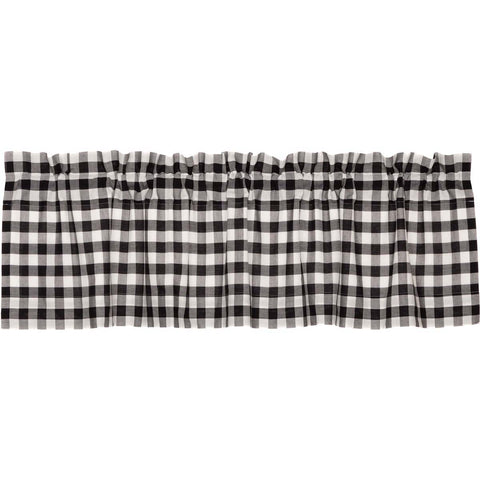 Annie Buffalo Check Black Valance 16x60