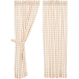 Annie Buffalo Check Tan Short Panel Set of 2 63x36