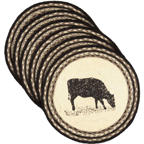 Sawyer Mill Cow Jute Tablemat 13 Set of 6