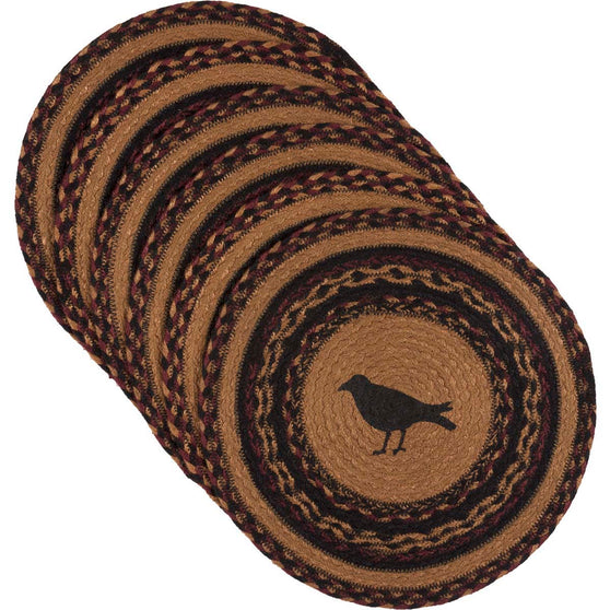 Heritage Farms Crow Jute Tablemat 13 Set of 6