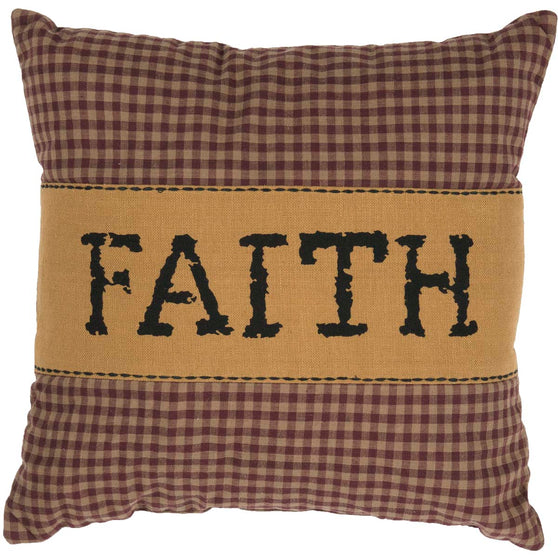 Heritage Farms Faith Pillow 12x12