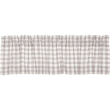 Annie Buffalo Check Grey Valance 16x60