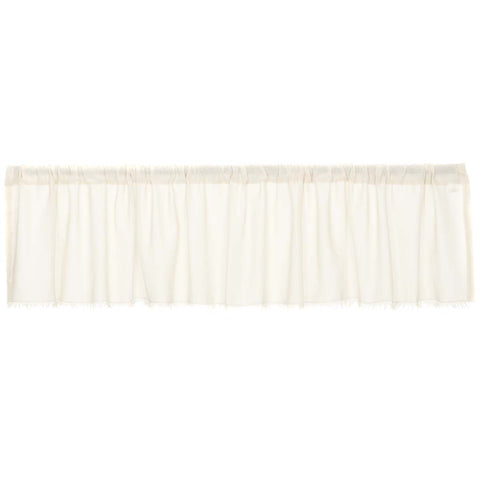 Tobacco Cloth Antique White Valance Fringed 16x90