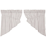 Annie Buffalo Check Grey Prairie Swag Set of 2 36x36x18