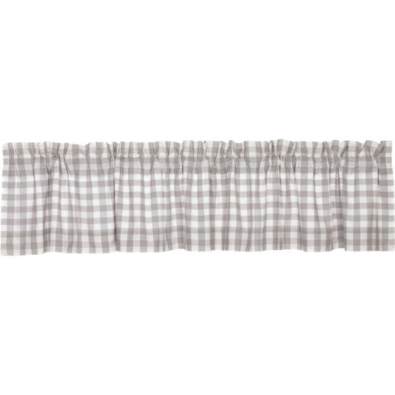 Annie Buffalo Check Grey Valance 16x90