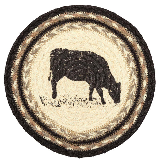 Sawyer Mill Cow Jute Trivet 8
