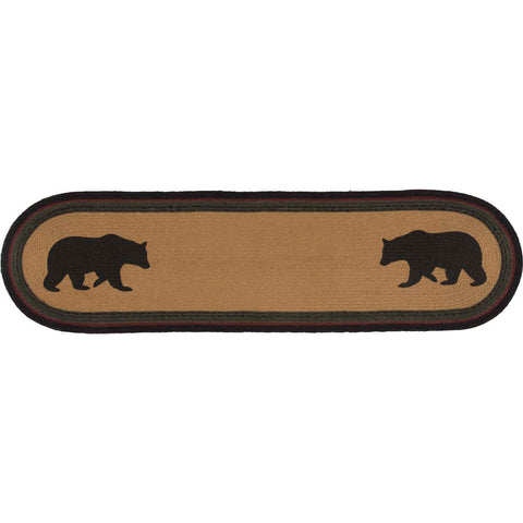 Wyatt Bear Jute Runner Oval 13x48
