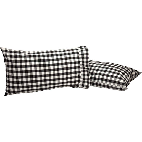 Annie Buffalo Check Black Standard Pillow Case Set of 2 21x30