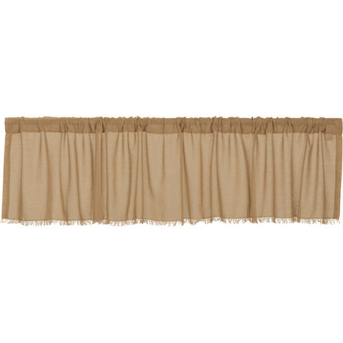 Tobacco Cloth Khaki Valance Fringed 16x90