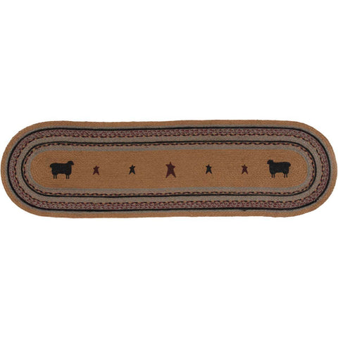 Heritage Farms Sheep Jute Runner Oval 13x48