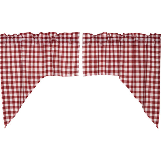 Buffalo Red Check Swag Set of 2 36x36x16