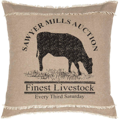 Sawyer Mill Cow Pillow 18x18