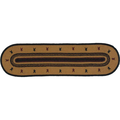 Heritage Farms Star Jute Runner Oval 13x48