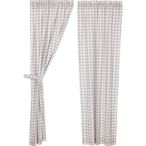 Annie Buffalo Check Grey Panel Set of 2 84x40