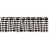 Annie Buffalo Check Black Valance 16x72