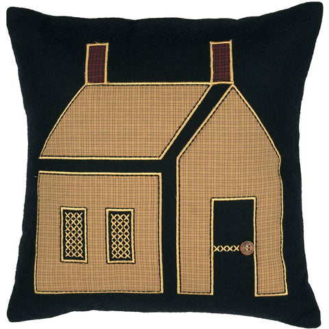 Primitive House Pillow 18x18