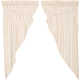 Annie Buffalo Check Tan Prairie Curtain Set of 2 63x36x18