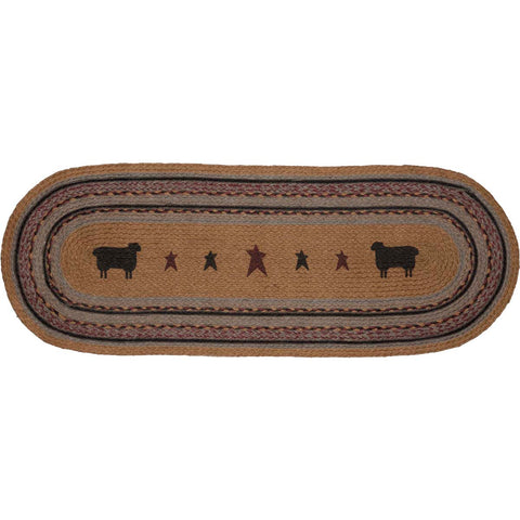 Heritage Farms Sheep Jute Runner Oval 13x36