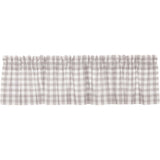 Annie Buffalo Check Grey Valance 16x72