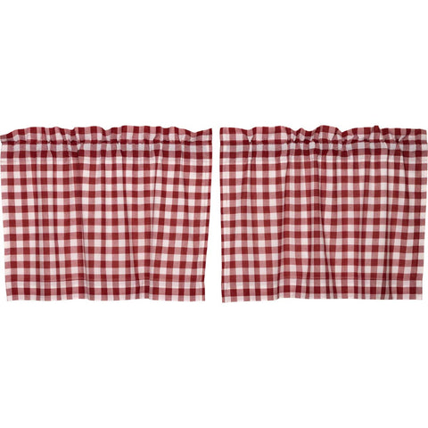 Buffalo Red Check Tier Set of 2 L24xW36