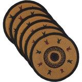 Heritage Farms Star Jute Tablemat 13 Set of 6
