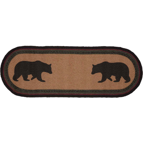 Wyatt Bear Jute Runner Oval 13x36