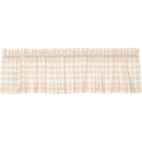 Annie Buffalo Check Tan Valance 16x72
