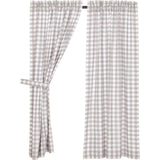 Annie Buffalo Check Grey Short Panel Set of 2 63x36