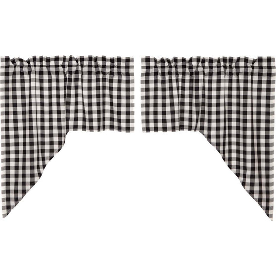 Annie Buffalo Check Black Swag Set of 2 36x36x16