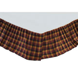Primitive Check Twin Bed Skirt 39x76x16