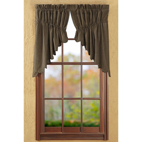 Window KettleGrove Prairie Swags & Prairie Curtains VHC-Brands