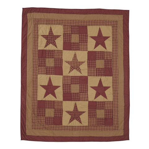 Bedding NinepatchStar Patchwork & Quilted Throws VHC-Brands