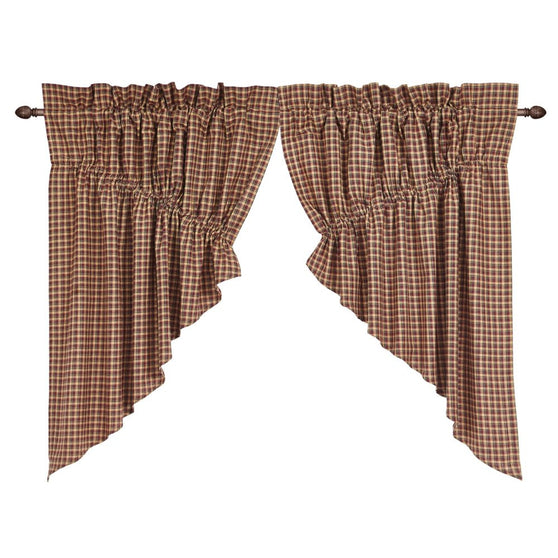Window PatrioticPatch Prairie Swags & Prairie Curtains VHC-Brands