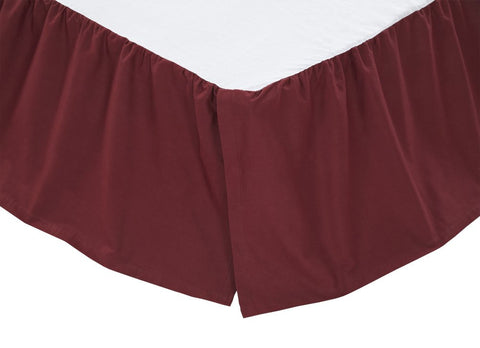 Bedding SolidBurgundy Bed Skirts VHC-Brands