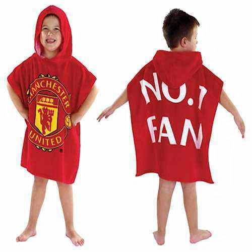 Manchester United Hooded Towel Poncho