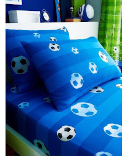 Football Soccer Single  Fitted Sheet & Pillowcase