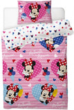 Minnie mouse Lovehearts Single Quilt cover set