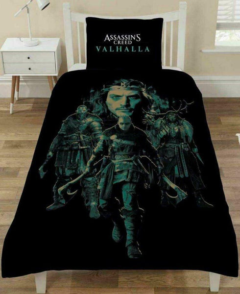 "Assassins Creed   ""Valhalla""  Single Quilt cover"