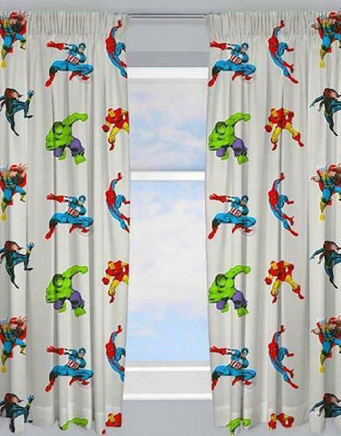 Marvel Avengers  Pencil pleat curtains