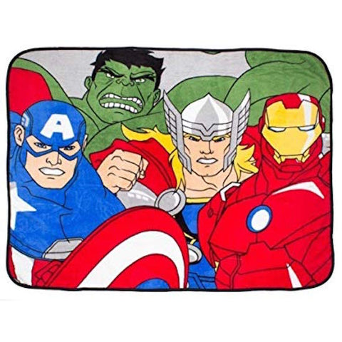 "Avengers  ""Assemble"" Coral  Fleece  Blanket"