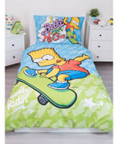 Bart Simpson single quilt cover. 100% Cotton