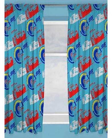 "CARS ""Lightning""  Pencil Pleat Curtains"