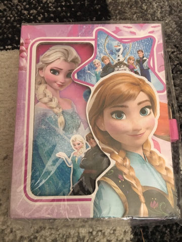 Frozen Notebook Diary with key lock