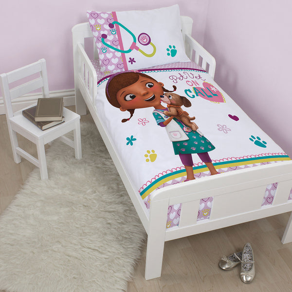 Doc Mcstuffins Cot Toddler Quilt Cover