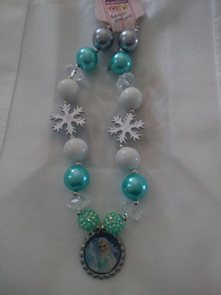 Frozen chunky necklace