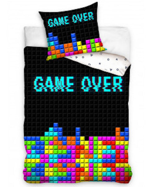 Game Over Single Quilt cover, 100% Cotton