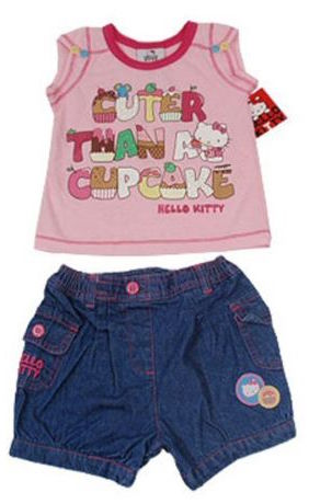 Hello Kitty licensed Top and Shorts